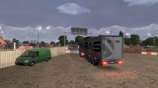 SARAS Logistic Trailer Skin