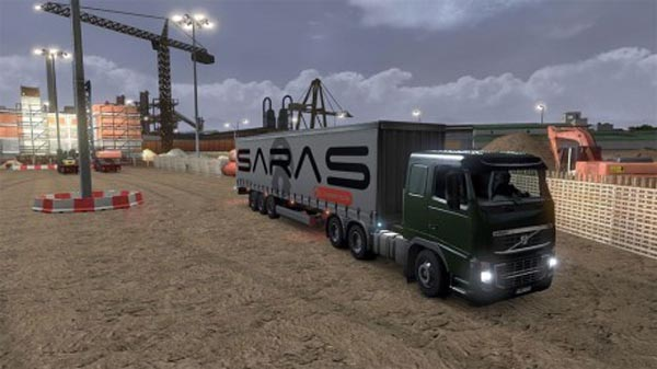 SARAS Logistic Trailer Skin