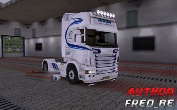Scania R V4 Dixon skin