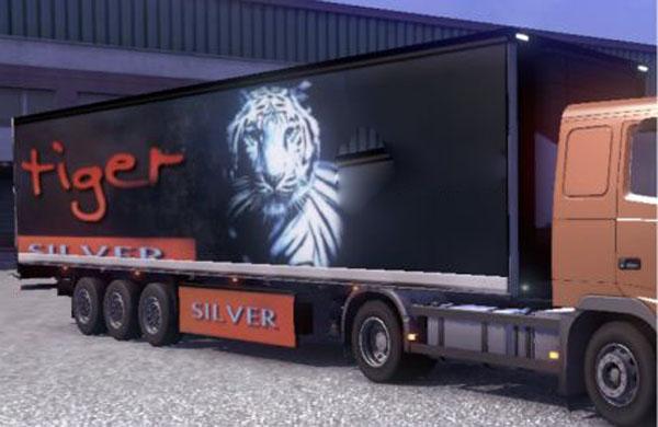 Silver Tiger Trailer Skin