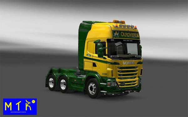 Skin Scania Ouro Verde Transportes