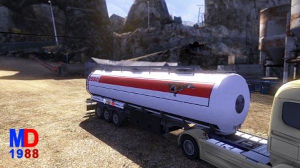 Trailer fuel cistern