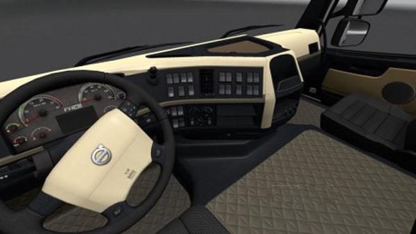 Volvo FH 2009 Black & Beige Interior