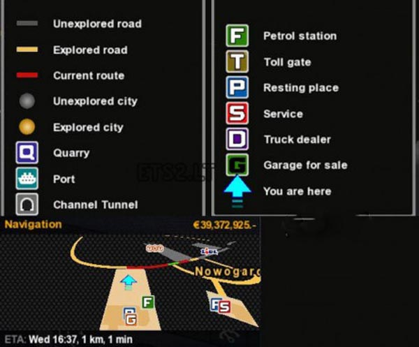 Wotawallys Map Symbols