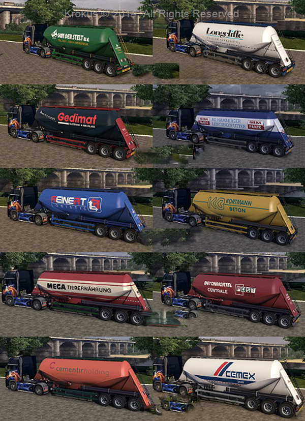 Cement Trailers Skin Pack