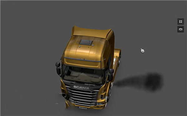 Exhaust smoke for Scania R