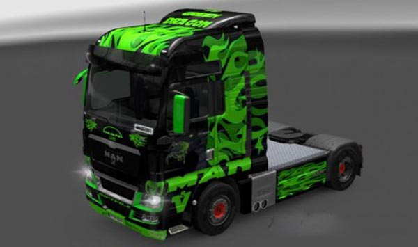MAN TGX Green Dragon Skin