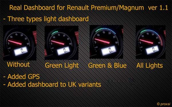 Real Dashboard For Renault Premium Magnum