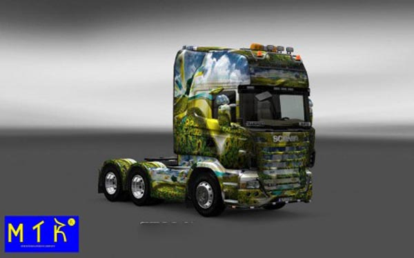 Scania Background 3D Wall Skin