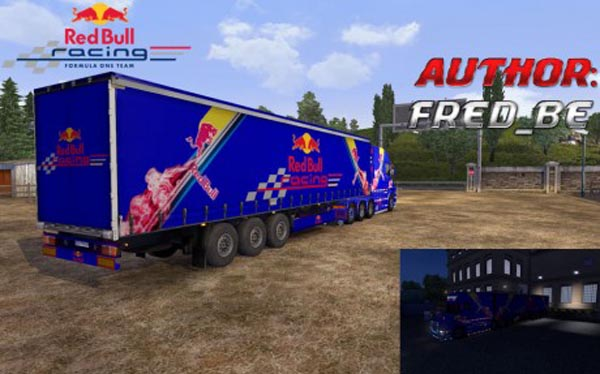 Scania Longline T + Trailer Red Bull ProfiLiner