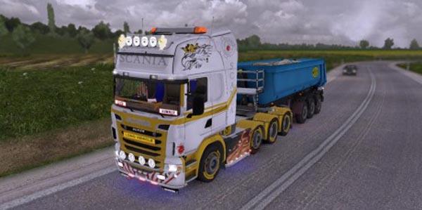 Scania R white gold Skin