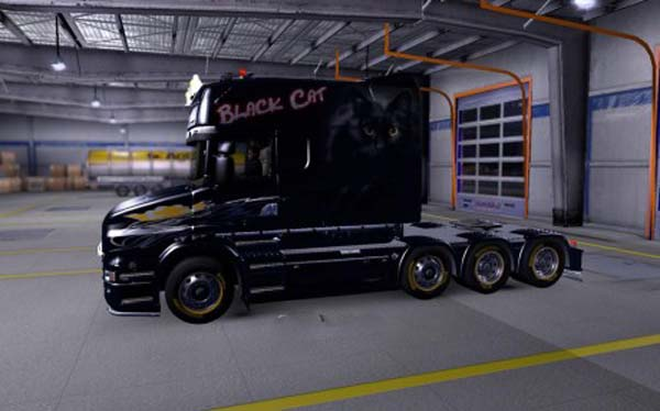 Scania T Black Cat Skin