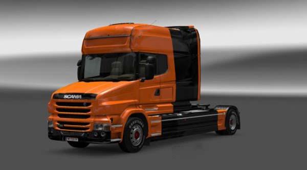 Scania T Black Orange Skin