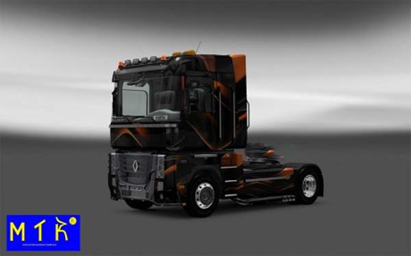 Skin Renault Magnum Matte Orange