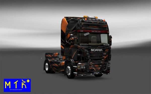 Skin Scania Matte Orange