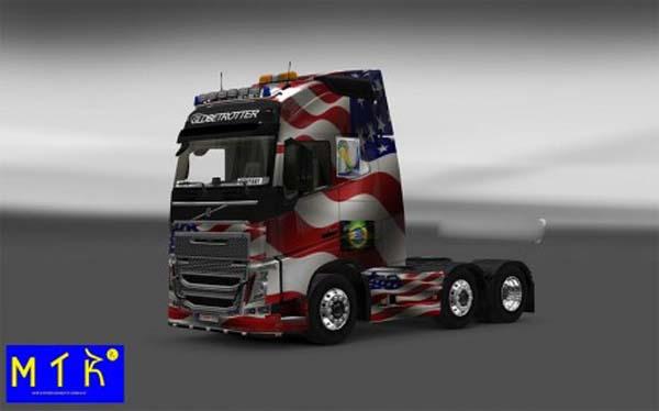 Skin Volvo FH 16 2012 USA Copa 2014