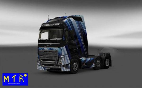 Skin Volvo FH 2012 Blue Stripes