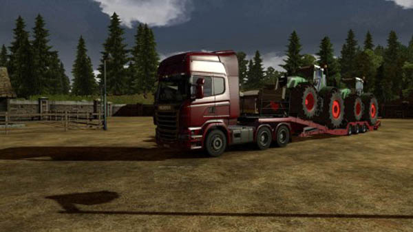 Trailer with Tractors