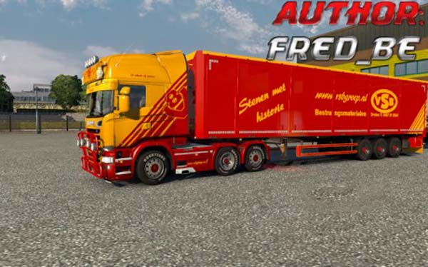 VSB Skin for Scania Steamline Truck and Bodex Trailer