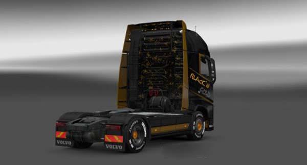 Volvo FH 2012 Blackn Gold Skin