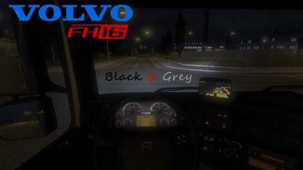 Volvo FH16 2009 Black & Grey Interior