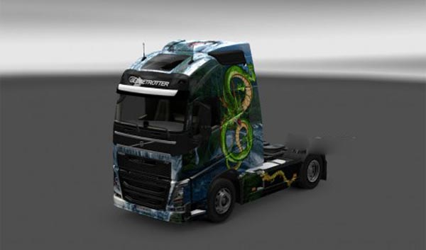 Chines Dragon skin for Volvo FH