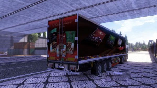 Chocolate trailer skin