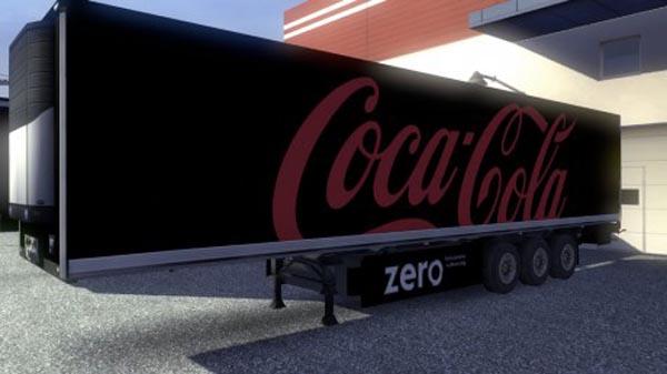 Coca Cola Zero Trailer Skin
