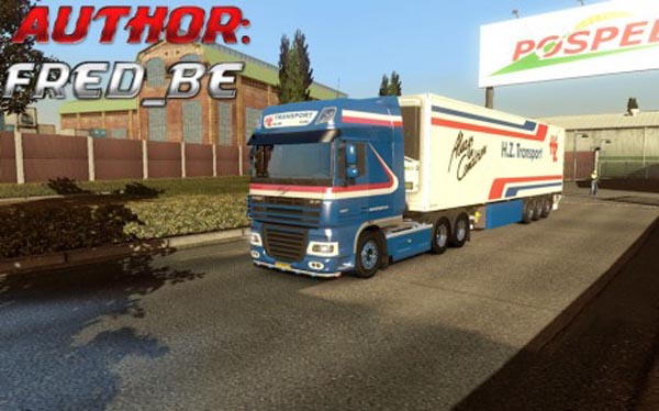 DAF XF + Trailer Lamberet H.Z. Transport
