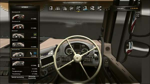 DAF XF White 4 Spoke Steering Wheel