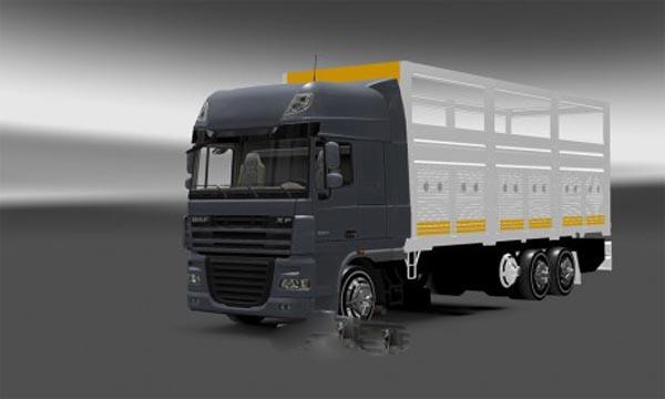 Daf xf 4 axe truck