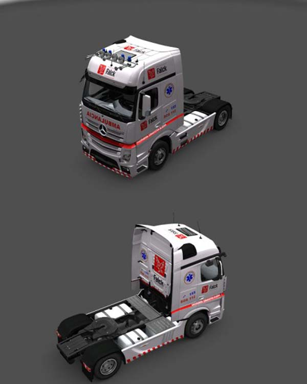 Falck skin for MB Actros IV