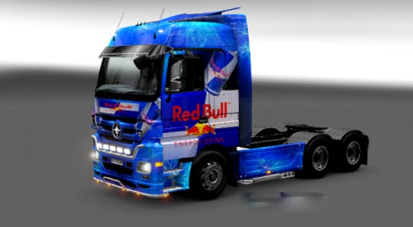 Mercedes Actros Red Bull Skin