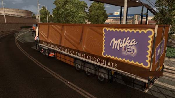 Milka chocolate trailer