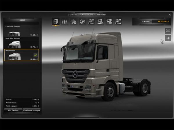 Modified Mercedes Actros Cab