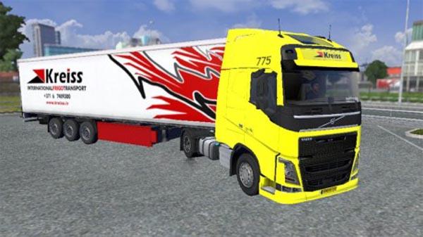 New Volvo KREISS skin and trailer