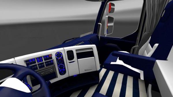 Renault Premium Blue & White Interior