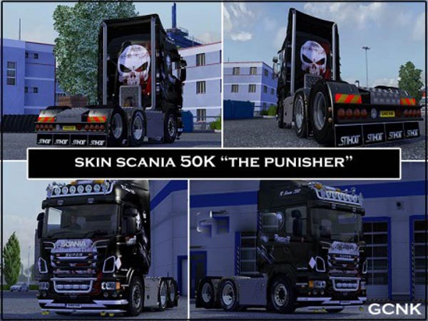 Scania 50K The punisher skin