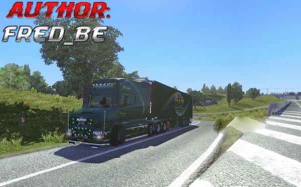 Scania Longline T + Trailer Lamberet Mari