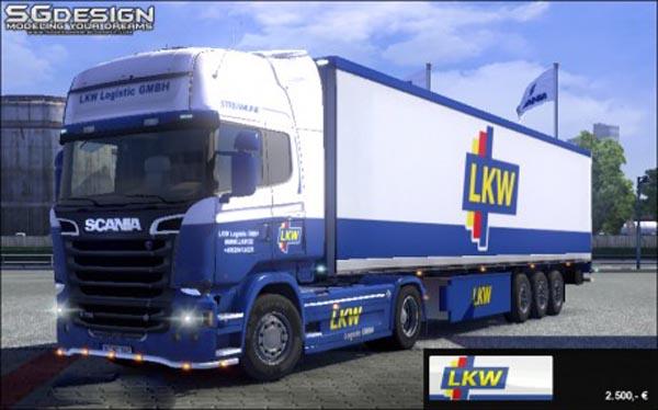 Scania Streamline LKW Logistic Skin  ETS2planetcom