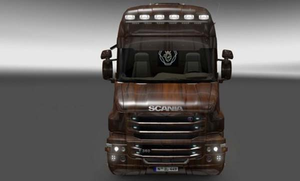 Scania T Wooden Skin