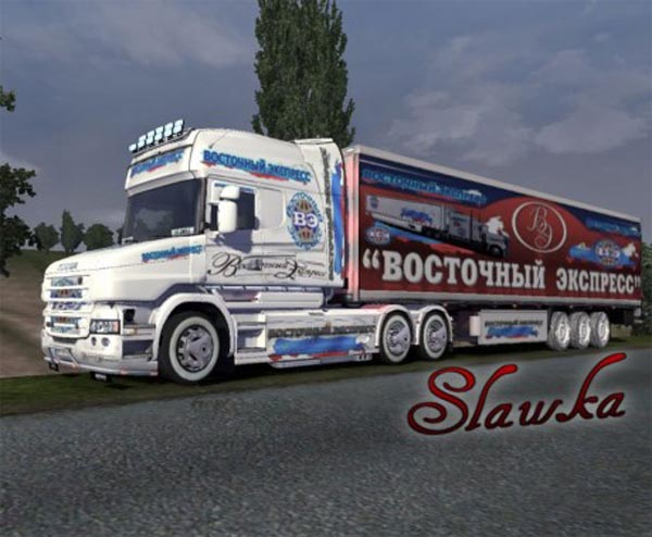 Skin Scania T and Trailer – Orient Express
