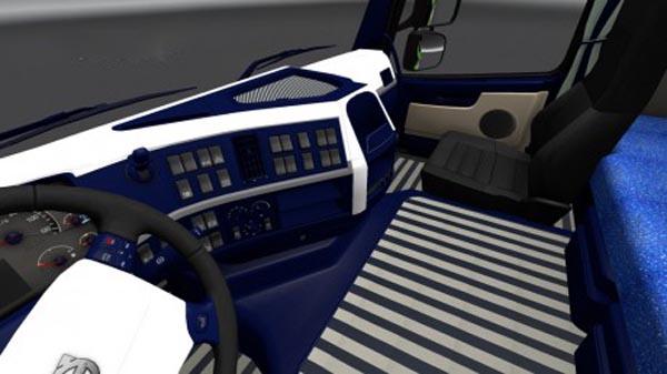 Volvo FH 2009 Blue & White Interior