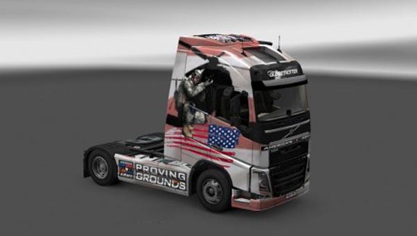 Volvo FH 2012 Americas Army Skin