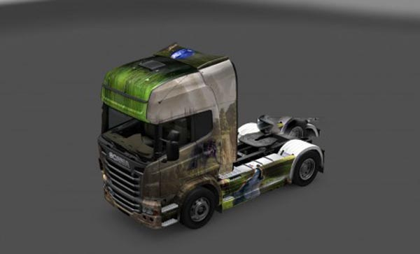 Wolf skin for Scania R
