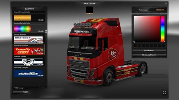 AFC West – 4 skins for all trucks