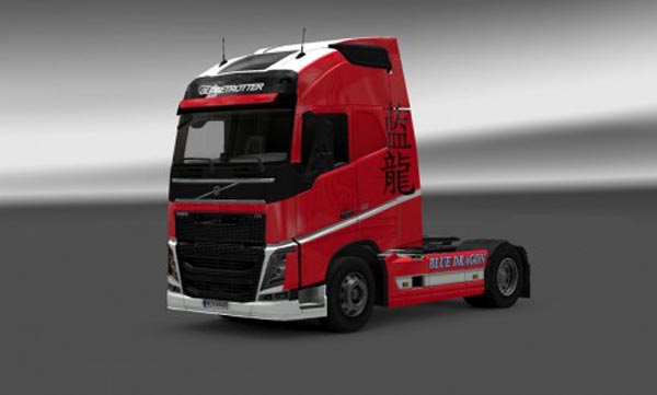 Blue dragon skin for Volvo FH