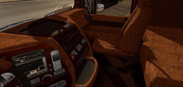 DAF XF Leather and Wood Interior