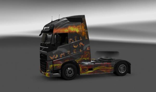 Hell on Wheels skin for Volvo FH