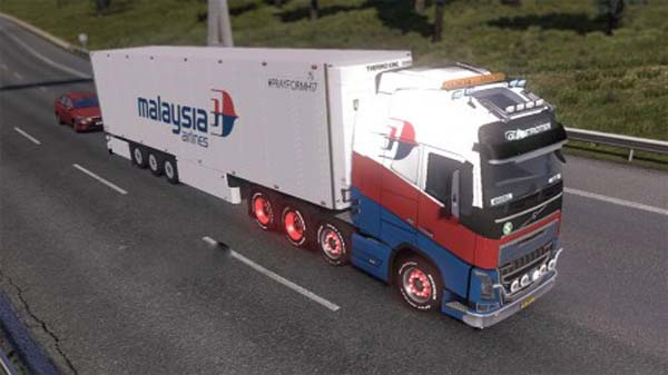 Malaysia Airlines Volvo FH16 & Trailer Skins